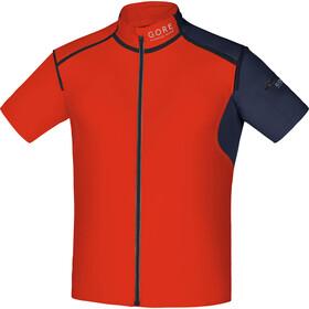 GORE RUNNING WEAR Fusion WS SO Zip Off Shirt Men orange.com/black iris